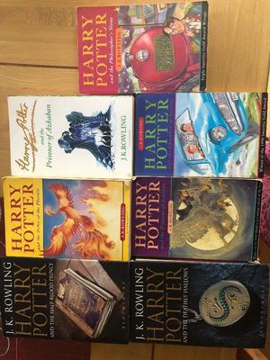 Harry Potter books x 7 including 2 hardbacks