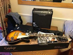 New  Epiphone ENLPVSNH1 Les Paul Standard Plus-Top Pro Electric Guitar
