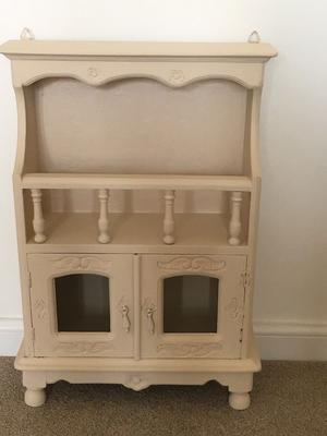 Newly painted small wooden storage cabinet