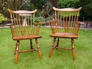 Pair of Farmhouse carver chairs