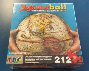 """TDC Games Jigsaw Ball Spherical Antique 9"""" 3D Globe Puzzle"""