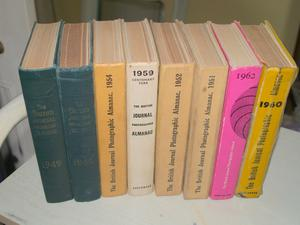 8 Volumes of The British Journal Photographic Almanac - 's/50's/60's