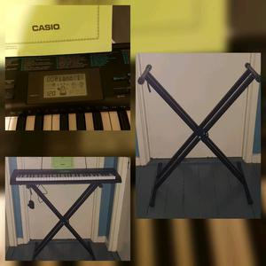 Casio CTK -  keyboard, song book & stand