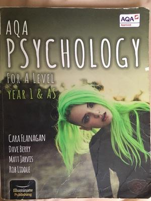 AQA PSYCHOLOGY FOR A LEVEL YEAR 1 & AS
