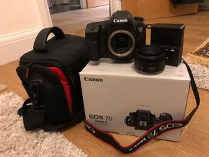 Canon EOS 7D Mark II DSLR Body + EF50mm F1.8 Prime Lens