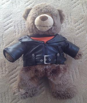 Harley-Davidson large Teddy Bear with T shirt and leather jacket