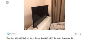 """Toshiba 43"""" Full hd smart WiFi tv.few months old.boxed.full working order £230 NO OFFERS.CAN DELIVER"""