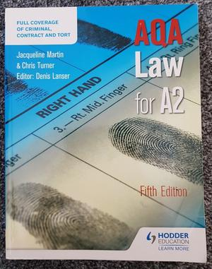 AQA Law for A2 Level (Fifth Edition) - J. Martin and C. Turner - Hodder Education [Paperback]