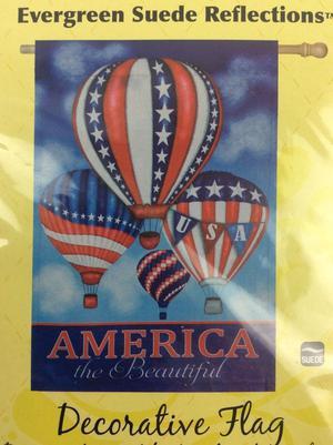 Evergreen House Flag America The Beautiful 2 Sided Fabric