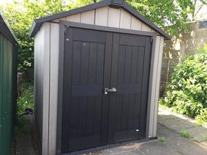 Keter Garden Shed Outdoor Storage House Solution Waterproof Oakland 757