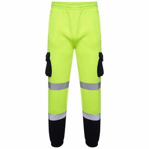 MenS Zip up Hi Viz Vis Trousers Reflective Fleece Work Pants Jogging Bottoms Buy 4, Get 10% Off