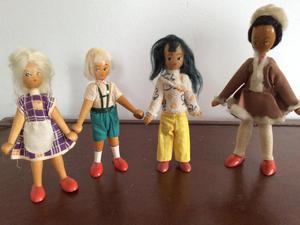 Polish Wooden Dolls x 4