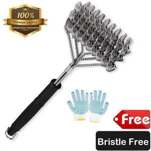 ZOUTOG Bristle Free Grill Brush 3 in 1 Stainless Steel 18''