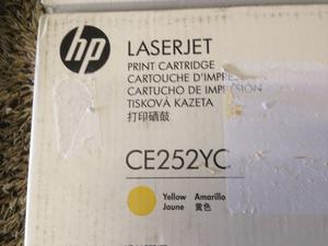 GENUINE BRAND NEW HP LASERJET CE252YC CARTRIDGE 504a YELLOW