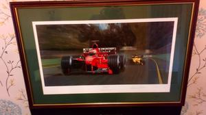 LOVELY LARGE OIL ON CANVAS F1 MEMORABILIA SELLING MY F1 COLLECTION