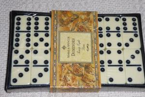 Marks & Spencer 28 Piece Dominoes Set with Black Case, Unopened, Still Sealed, Instructions. Histon