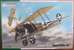 "SPECIAL HOBBY 1/32 FOKKER D.II ""Black & White Tail"" WWI"