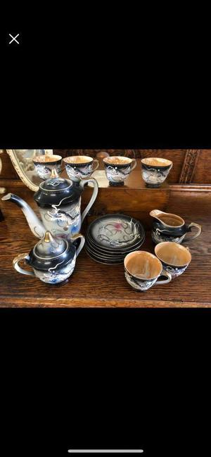 Very fine Chineese style fine china tea set.