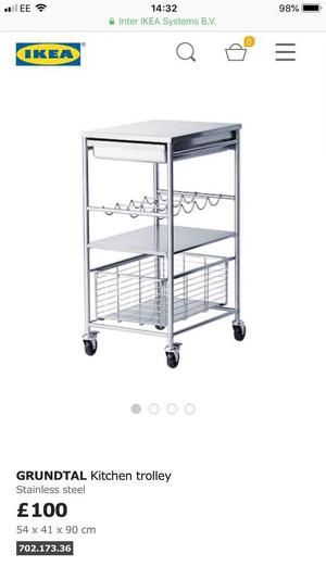 IKEA Stainless Kitchen Trolley