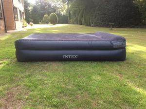Intex Deluxe Pillow Rest Raised Airbed with Built-in Pump Double Size