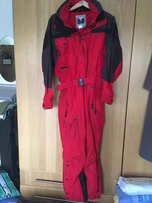 Male all in one ski suit
