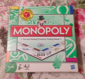 Monopoly With Play Faster Speed Die. Hasbro . Complete And Good Condition.