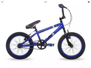 "RAD Rascal Boys BMX, Kids 16"" Wheel BMX Bike, Blue / Black"
