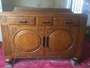 Vintage, solid wooden cabinet.