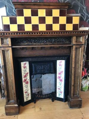 Antique Fireplace Cast Iron with Surround