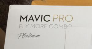 Mavic pro platinum with combo pack (2 extra batteries and propellers etc) a full kit