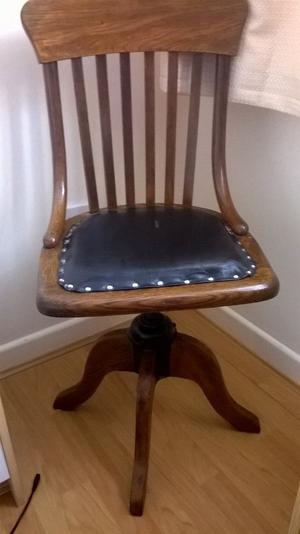 Vintage style wooden desk office chair