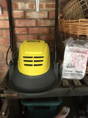 Brand new small flymo type electric mower and ideal for small lawn. Never used