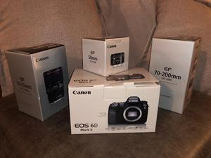 Canon 6d ii and 3 lens bundle