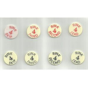 DRAKES PRIDE BOWLS RINK BALLOTING DISCS - RINK 4 ONLY (Home