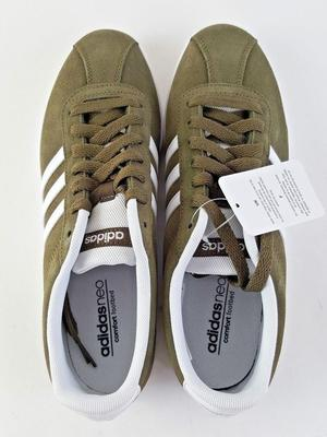 Ladies Adidas Olive Green / White Courtset W Training Shoe UK Size 5.5