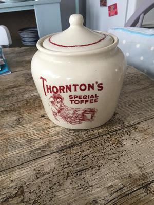 Vintage Thornton's jar