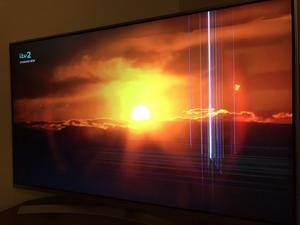 """LG 49UH850V Smart 3D 4k Ultra HD HDR 49"""" LED TV. Cracked But"""