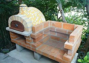 Unused Outdoor Pizza Oven With Side BBQ And Storage - Can Deliver