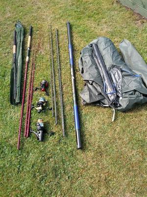 FISHING TACKLE FOR SALE JOB LOT 10 ITEMS 2UNUSED 8USED