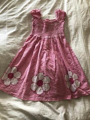 Pink blue zoo dress age 5-6 years