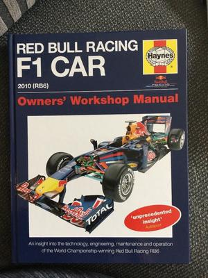 Red Bull Racing Formula 1 car book
