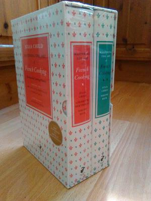Brand New Two Volume Box Set of French Cooking by Julia Childs