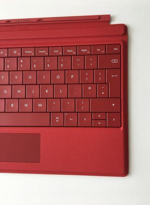 Microsoft Surface Pro 3 Type Cover Keyboard Laptop UK Keyboard Layout Red Genuine Excellent Condi
