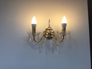 Set of 2 crystal lights