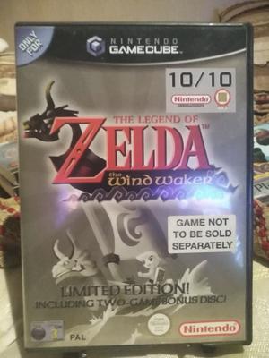 The Legend of Zelda the Windwaker for Gamecube with bonus disk.