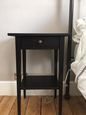 2 x Ikea Hemnes Bedside Tables - Black/Brown - Nearly new condition