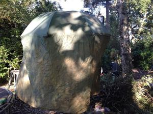 Fishing tent. Needs a bit of wash, or a good session in the rain. water tight and ready to go