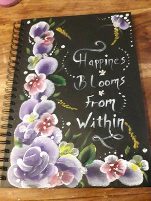 Large hand painted note pad A4 size