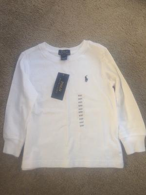Polo Ralph Lauren White Long Sleeve Top Size 2T  cm Brand New with Tags