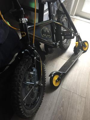 Batman bike and scooter and helmet